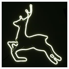 Illuminated reindeer 360 ice white leds 57x57 cm external and internal use s2