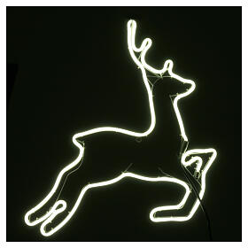 Illuminated reindeer 360 ice white leds 57x57 cm external and internal use s3