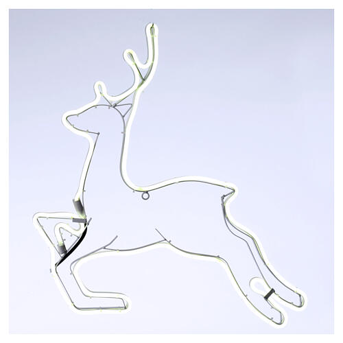 Illuminated reindeer 360 ice white leds 57x57 cm external and internal use 1