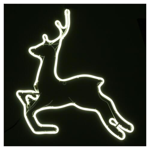Illuminated reindeer 360 ice white leds 57x57 cm external and internal use 2