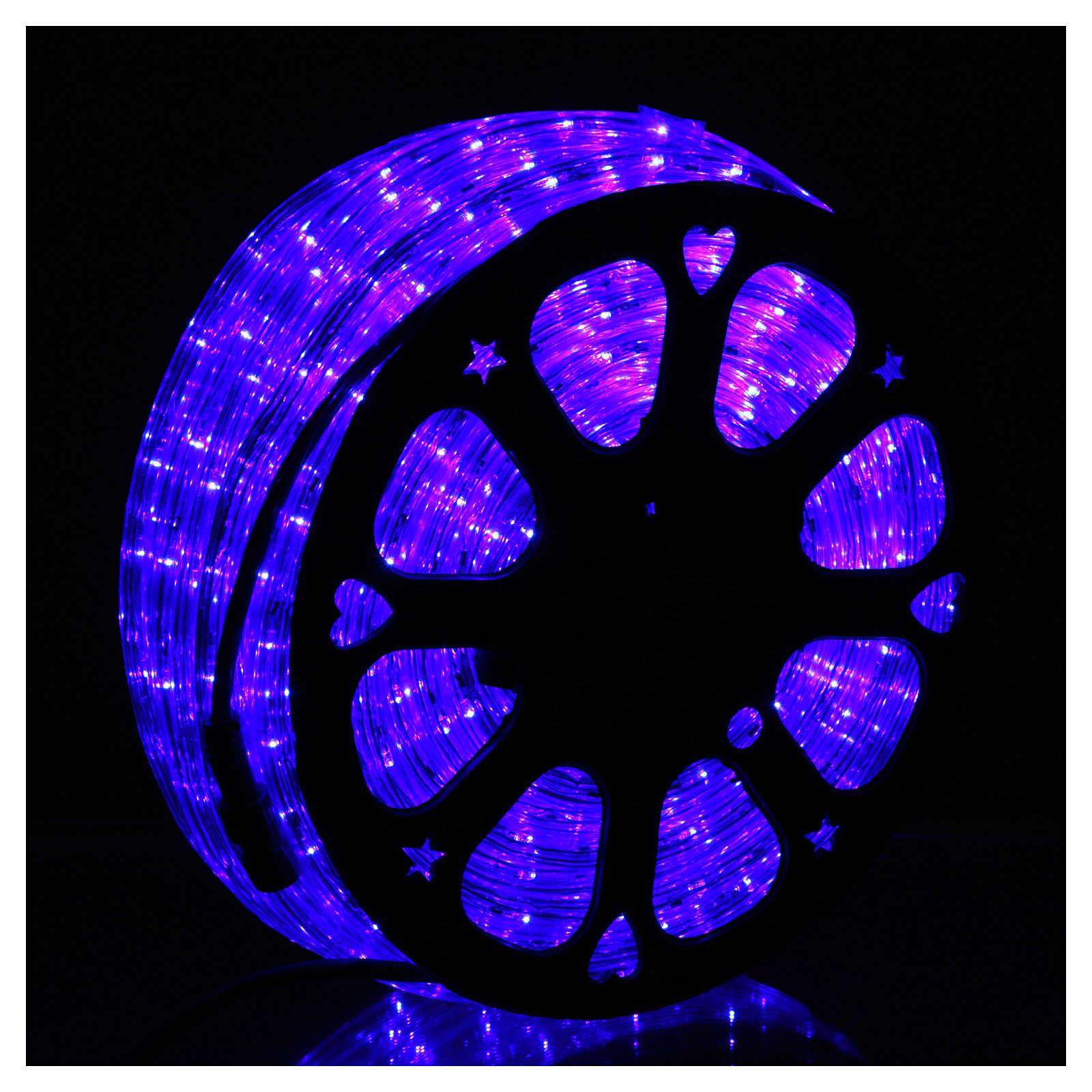 Luce natalizia tubo Led blu 50 m a 3 vie a taglio 3