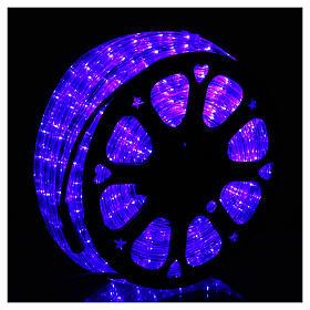 Luce natalizia tubo Led blu 50 m a 3 vie a taglio s2