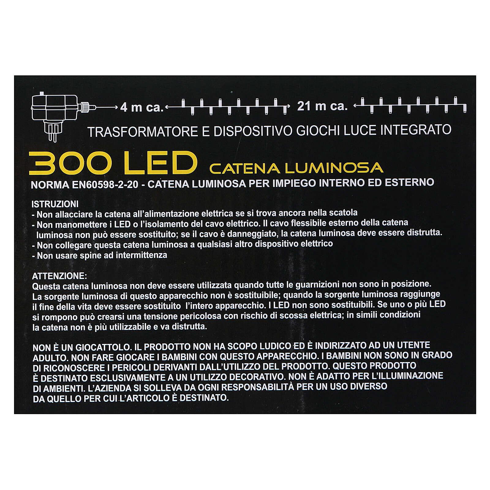 Luci di natale 300 LED bicolore bianco caldo e multicolore 3