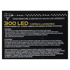 Luci di natale 300 LED bicolore bianco caldo e multicolore s9
