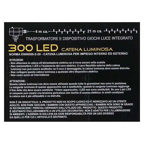 Luci di natale 300 LED bicolore bianco caldo e multicolore 9