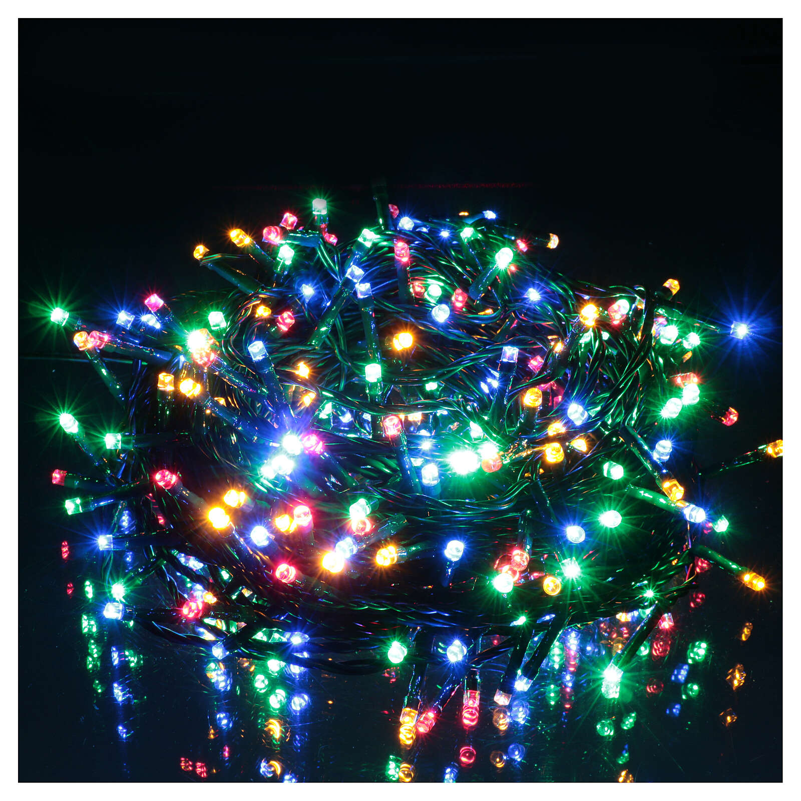 Led Christmas Lights Warm White.Christmas Lights 300 Led Two Toned Warm White And Multicolor