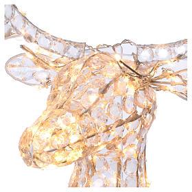 Lumière tête de renne 140 LED h 84 cm usage int/ext blanc chaud s3