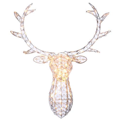 Lumière tête de renne 140 LED h 84 cm usage int/ext blanc chaud 1