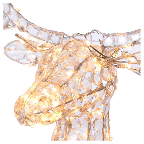 Lumière tête de renne 140 LED h 84 cm usage int/ext blanc chaud 3
