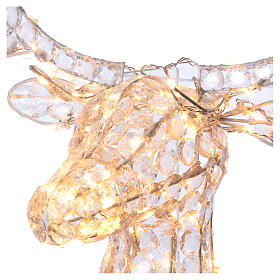 Reindeer Head 140 LED lights ice white height 84 cm indoor outdoor use s3