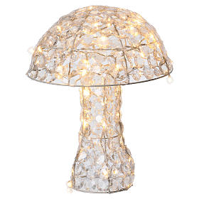 Mushroom Lighted with 95 LED in ice white diamond h 39 cm indoor and outdoor use s1