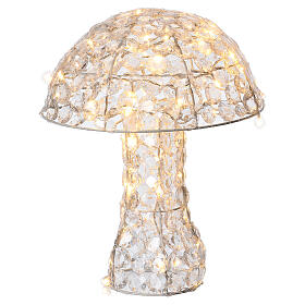 Mushroom Lighted with 95 LED in warm white diamond h 39 cm indoor and outdoor use s2