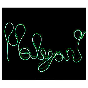 Mini mouldable green neon light with plays of light 2.7 m battery s2
