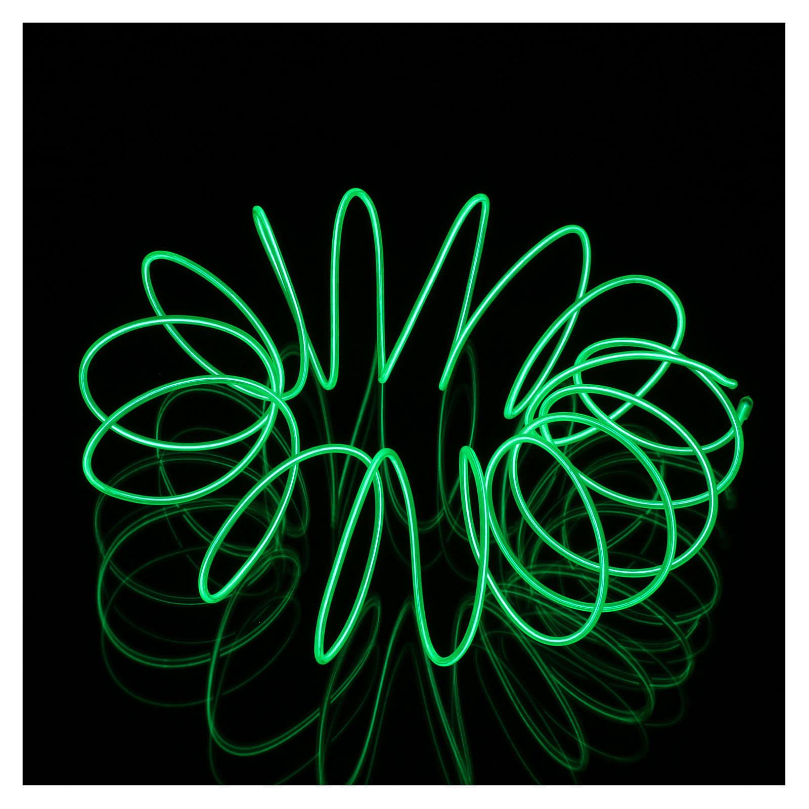 Mini neón modelable con juegos luz verde 2,7 m batería 3