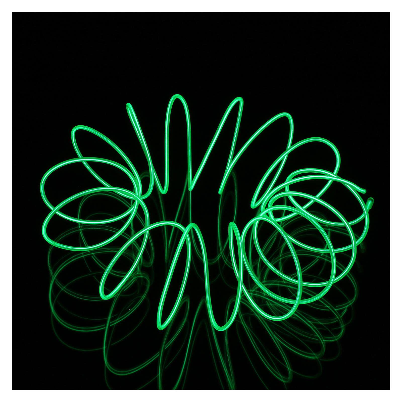 Mini Moldable Neon Green Lights 2.7 m batteries 3