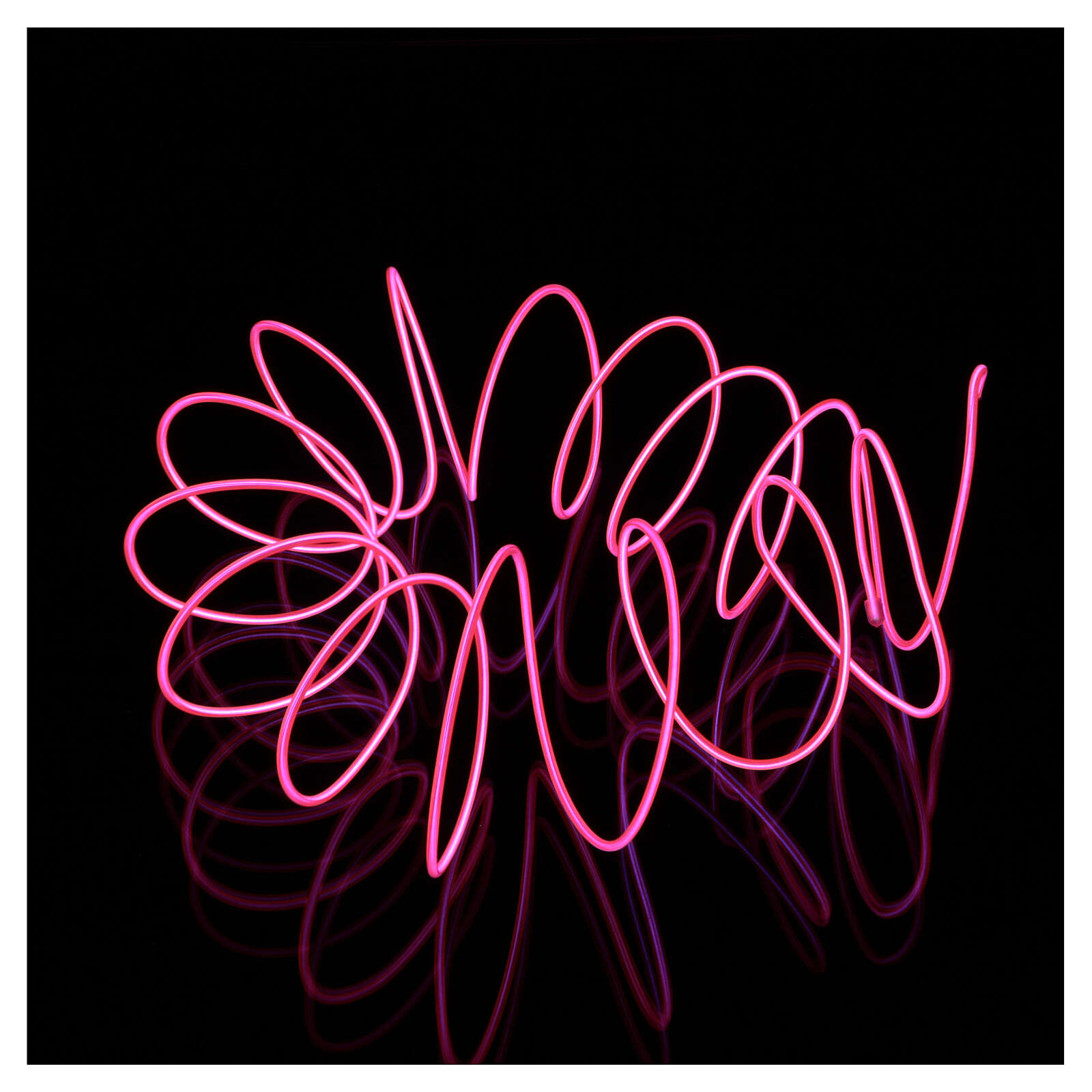 Mini mouldable fuchsia neon light with plays of light 2.7 m battery 3
