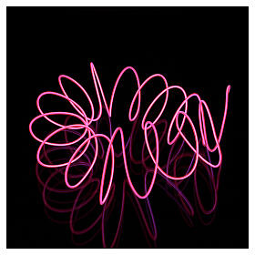Mini mouldable fuchsia neon light with plays of light 2.7 m battery s3