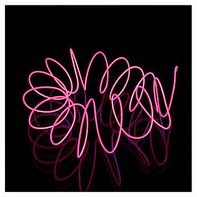 Mini mouldable fuchsia neon light with plays of light 2.7 m battery s1