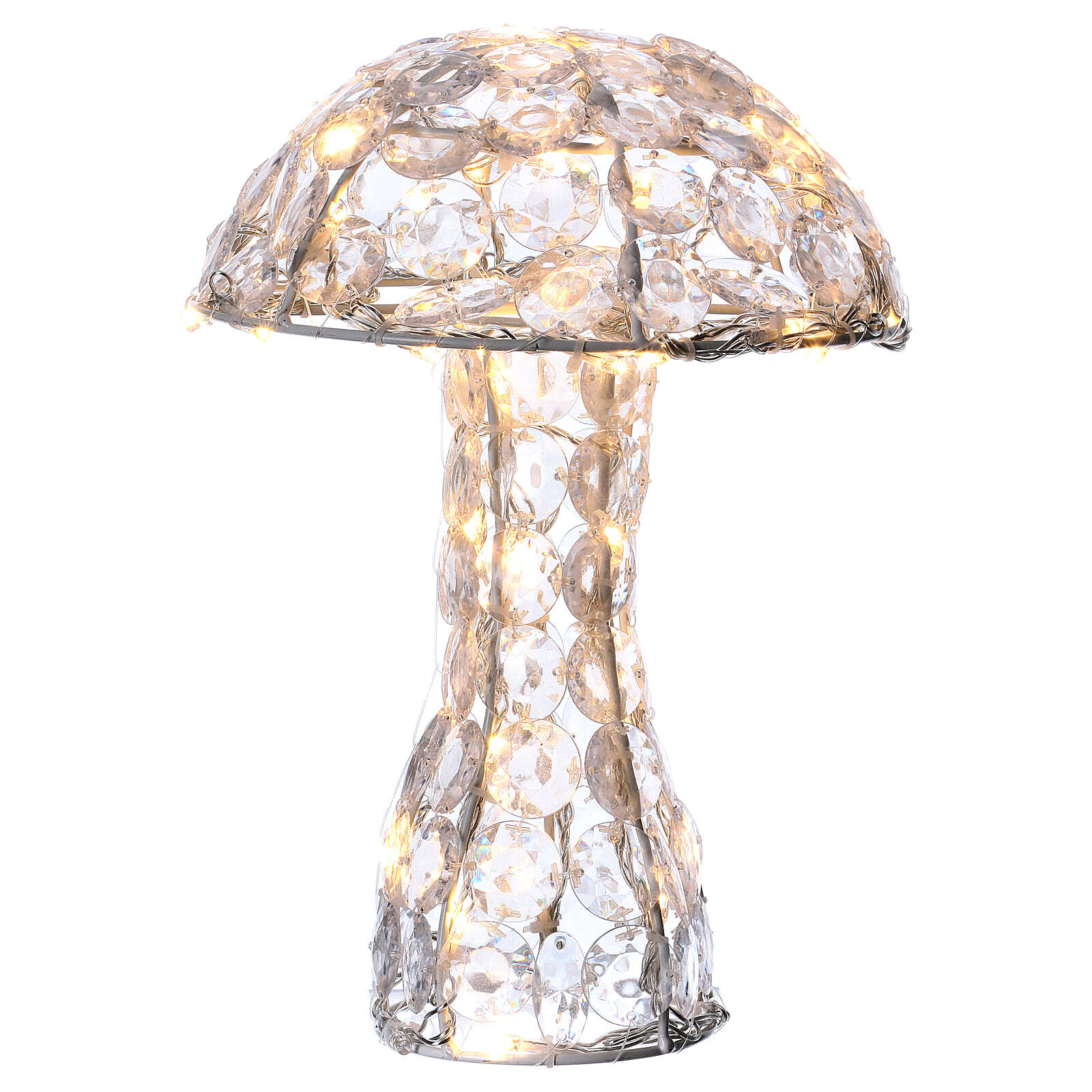 Illuminated Mushroom 65 diamond LED h 30 cm indoor outdoor ice white 3