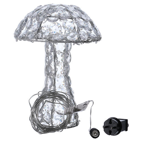 Illuminated Mushroom 65 diamond LED h 30 cm indoor outdoor ice white 5
