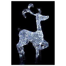 Lumière renne debout 120 LED h 92 cm usage int/ext blanc froid s2