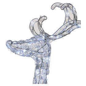 Luce renna in piedi diamanti 120 led h 92 cm uso int est bianco freddo s3