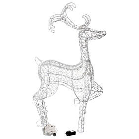 Luce renna in piedi diamanti 120 led h 92 cm uso int est bianco freddo s4