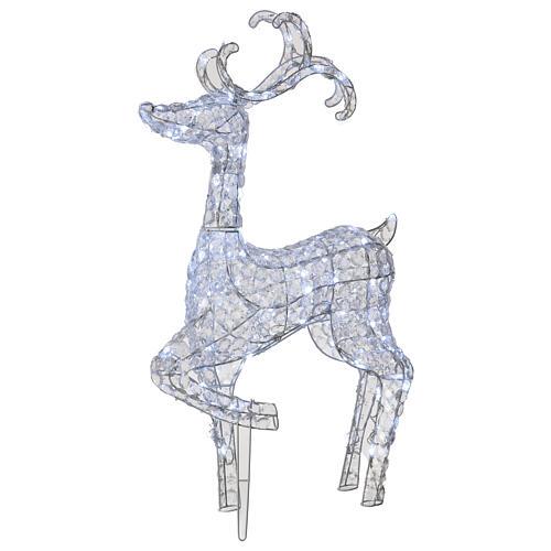 Luce renna in piedi diamanti 120 led h 92 cm uso int est bianco freddo 1