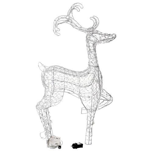 Luce renna in piedi diamanti 120 led h 92 cm uso int est bianco freddo 4