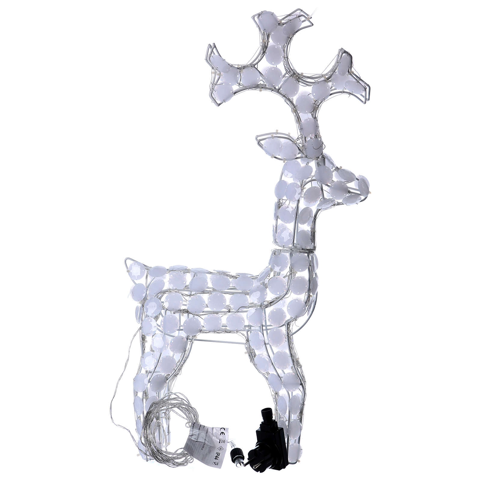 Lighted Reindeer 80 LED ice white h 66 cm indoor outdoor use 3