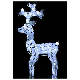 Lighted Reindeer 80 LED ice white h 66 cm indoor outdoor use s2