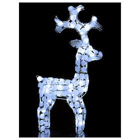 Lighted Reindeer 80 LED ice white h 66 cm indoor outdoor use s3