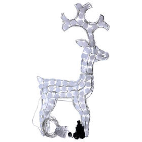 Lighted Reindeer 80 LED ice white h 66 cm indoor outdoor use s5