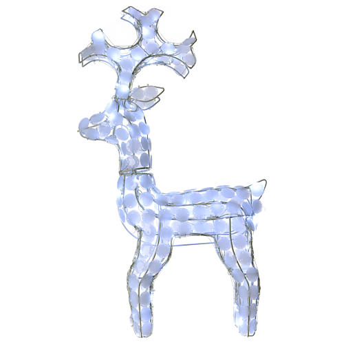 Lighted Reindeer 80 LED ice white h 66 cm indoor outdoor use 1