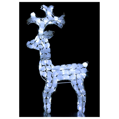 Lighted Reindeer 80 LED ice white h 66 cm indoor outdoor use 2