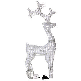 Christmas lights reindeer 200 LEDs, for indoor and outdoor use, ice-white h. 115 cm s3