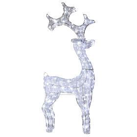 Luce renna bianco ghiaccio 200 led h 115 cm uso interno esterno s1