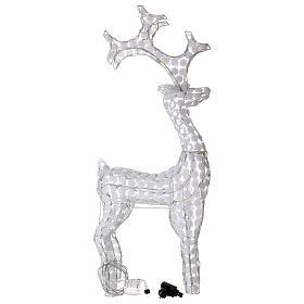 Luce renna bianco ghiaccio 200 led h 115 cm uso interno esterno s3