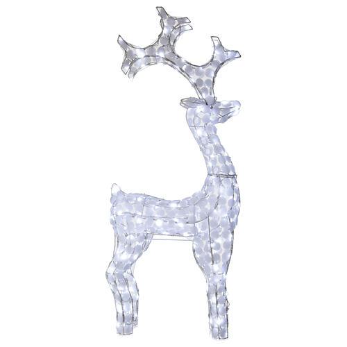 Luce renna bianco ghiaccio 200 led h 115 cm uso interno esterno 1