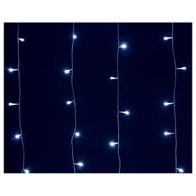 Cortina luminosa 400 led uso int ext blanco frío y azul con memoria s5