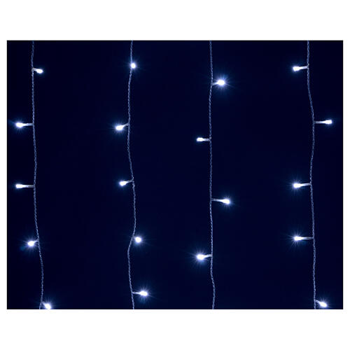 Cortina luminosa 400 led uso int ext blanco frío y azul con memoria 5