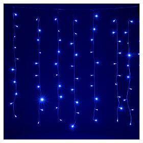Tenda luminosa 400 led uso int est bianco freddo e blu con memoria s2