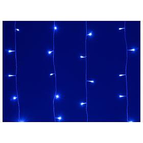 Tenda luminosa 400 led uso int est bianco freddo e blu con memoria s3