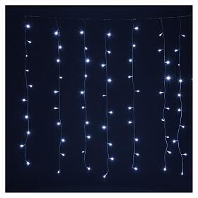 Tenda luminosa 400 led uso int est bianco freddo e blu con memoria s4