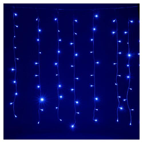 Tenda luminosa 400 led uso int est bianco freddo e blu con memoria 2
