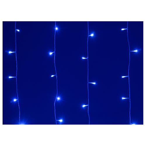 Tenda luminosa 400 led uso int est bianco freddo e blu con memoria 3