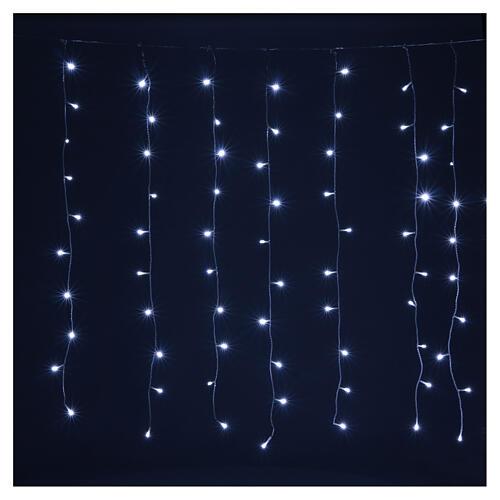 Tenda luminosa 400 led uso int est bianco freddo e blu con memoria 4