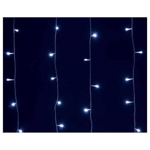 Tenda luminosa 400 led uso int est bianco freddo e blu con memoria 5