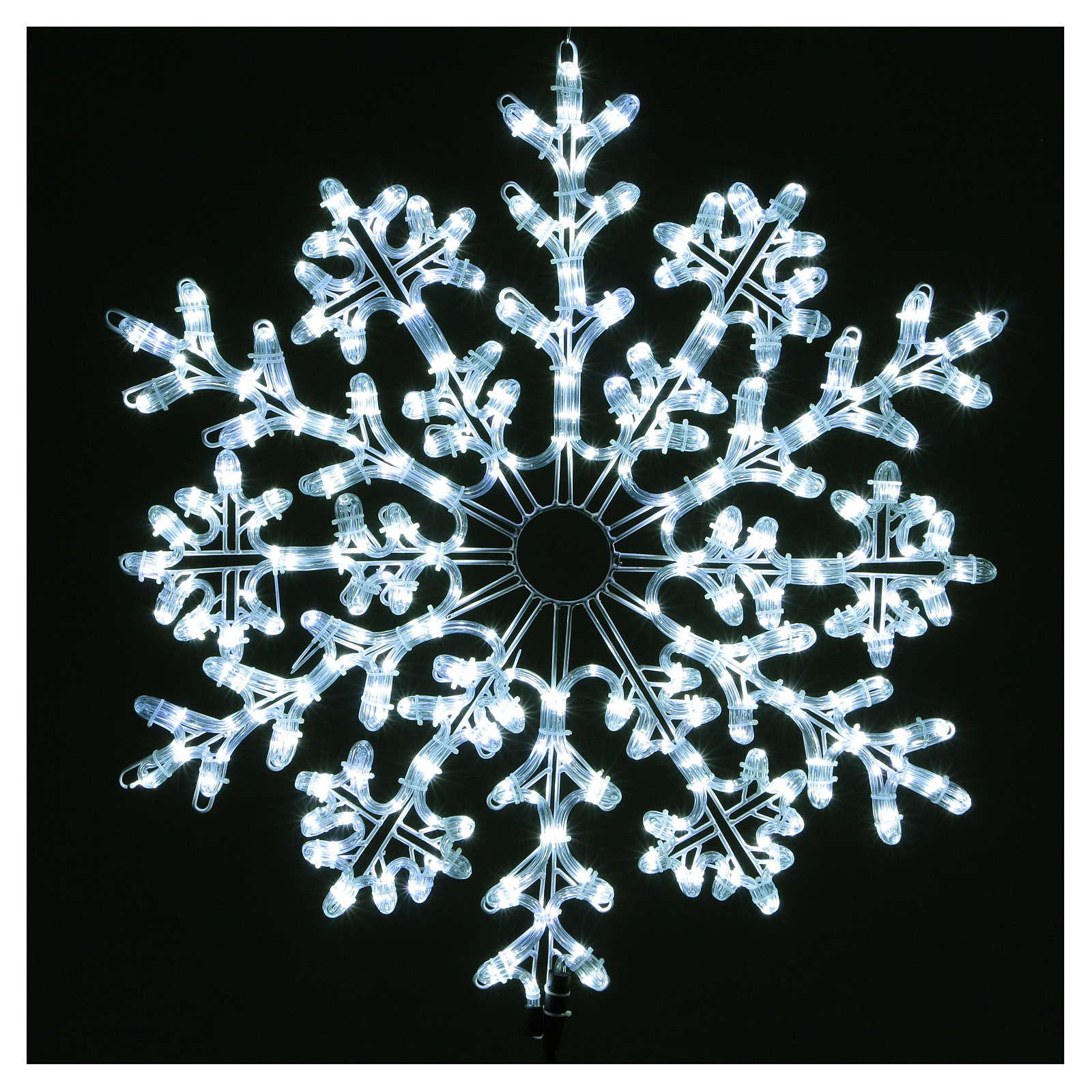 Fiocco di neve 336 Led Bianco ghiaccio interno ed esterno 3