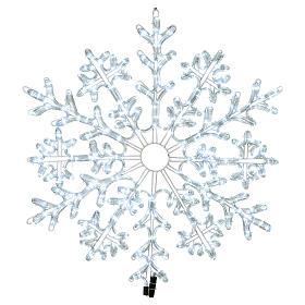 Fiocco di neve 336 Led Bianco ghiaccio interno ed esterno s1